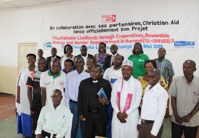 Atelier de lancement officiel du projet « Sustainable livelihoods through coopératives, renewable energy and gender empowerment in Burundi  'SL-CREGEB' », à RUMONGE